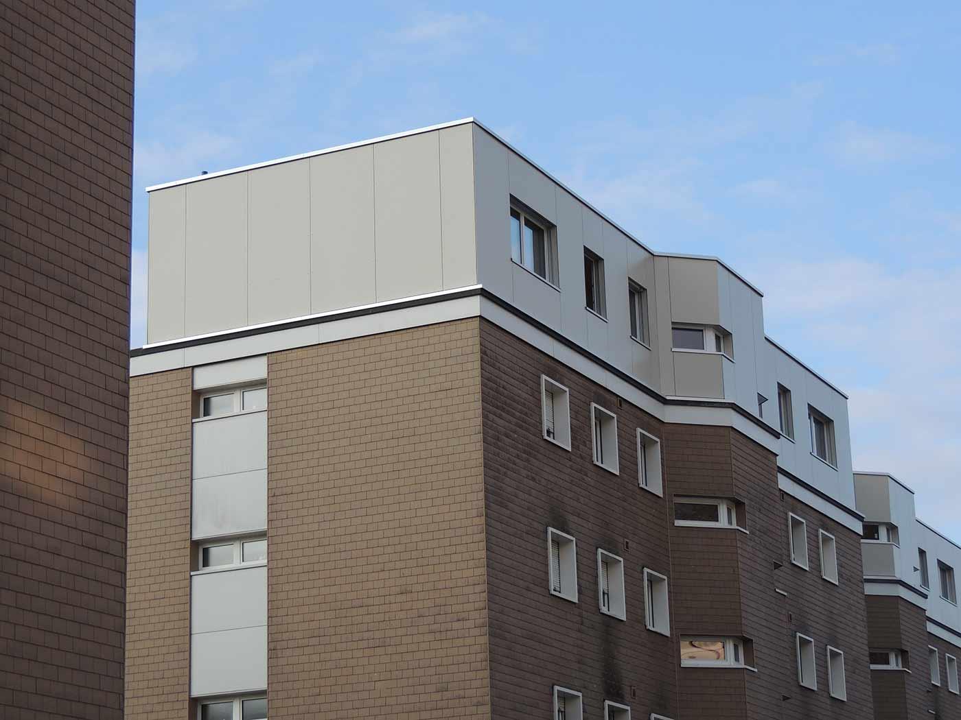 חיפוי אלומיניום על בניין