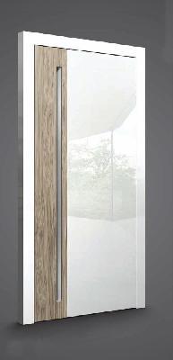 דלת-פנים-צבע-לבן-פנינה-עם-פס-עץ