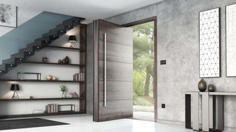 דלת כניסה אפורות מעוצבות מחיר